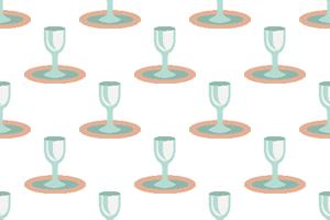 Teller mit Glas