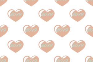 Herzen mit 2019 Schriftzug - Hochzeitstrends 2019