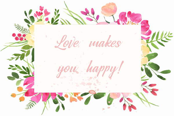 Grafik Love makes you happy