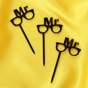 Cupcake Topper Mr. Brille