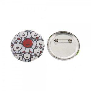 Buttons mit eigenem Motiv & Anstecknadel (ø 50 mm rund - 10 Stück)