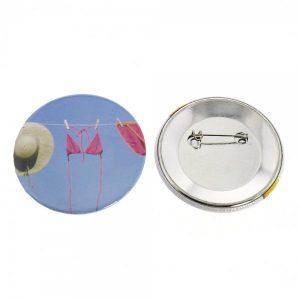Buttons mit eigenem Motiv & Anstecknadel (ø 59 mm rund - 10 Stück)