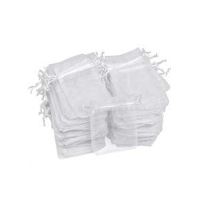 100 Organzasäckchen, 12x7,5cm, VBS Großhandelspackung - Weiß