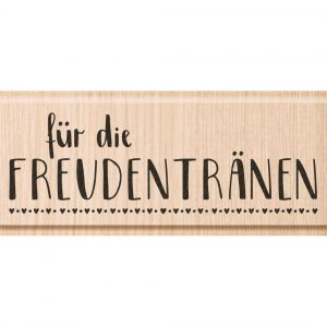 """Holzstempel """"Freudentränen"""""""