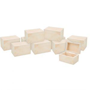 10 Holzkästchen mit Magnetverschluss, VBS Großhandelspackung