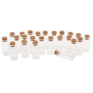 24 Glasröhrchen mit Korken, 10 ml, VBS Großhandelspackung
