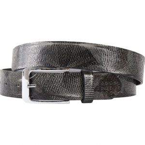 Abstract Black (Gürtel) - Lureaux - Handgemachte Designer Gürtel