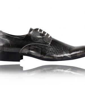 Abstract Black - Lureaux - Handgemachte Designer Schuhe