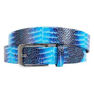 Blue Dino (Gürtel) - Lureaux - Handgemachte Designer Gürtel