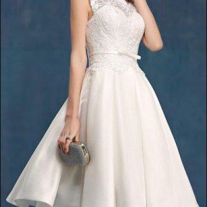 60er Jahre Vintage Brautkleid mit Spitze