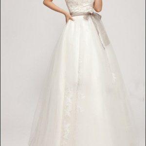 A-Linie Brautkleid mit Korsage und Spitze