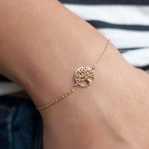 Baum des Lebens Armband - 16K Vergoldet