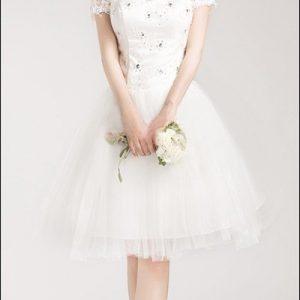 Spitzen-Brautkleid mit Tüllrock Vintage-Look