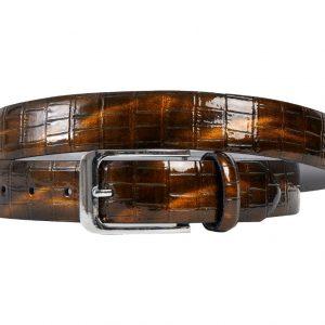 Bronzer Croco (Gürtel) - Lureaux - Handgemachte Designer Gürtel