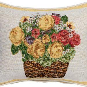 """SPRÜGEL Dekokissen """"Blumenkörbchen"""", mit Blumen"""