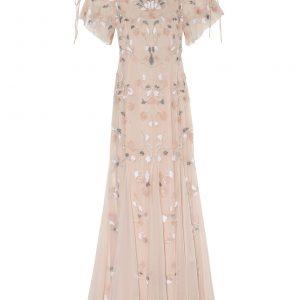 Adrianna Papell Abendkleid Mit Paillettenbesatz rosa