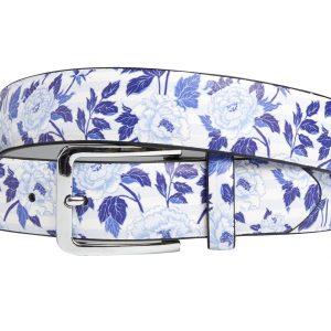 Blue Flowerbed (Gürtel) - Lureaux - Handgemachte Designer Gürtel