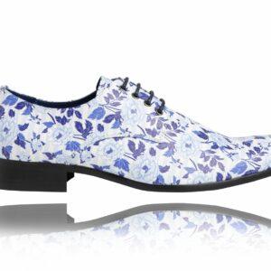 Blue Flowerbed - Lureaux - Handgemachte Designer Schuhe