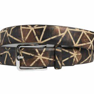 Brown Triangle (Gürtel) - Lureaux - Handgemachte Designer Gürtel